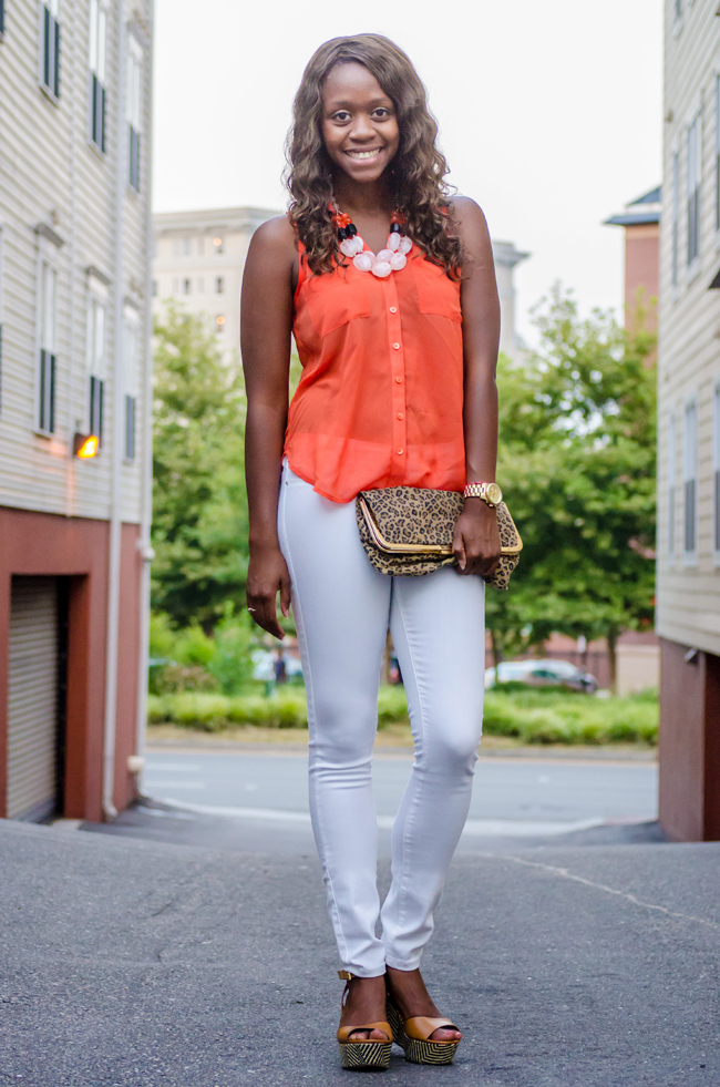 dc blogger, fashion blogger, dc, rva, blank white skinny jeans, hm jewelry, aldo TAIPA, forever 21 leopard clutch