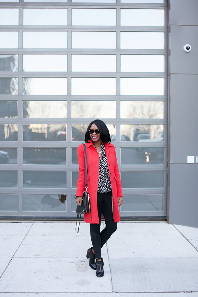 two arrows, south moon under, jcrew lady day coat, red winter coat, dc blogger
