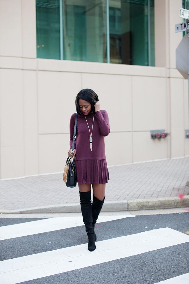 loft pleated flippy dress, steve madden gorgeous, vera bradley natalie, kendra scott rayne, dc blogger