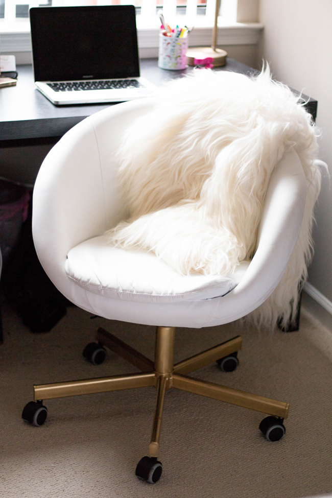 Diy Ikea Hack Gold Office Chair Alicia Tenise