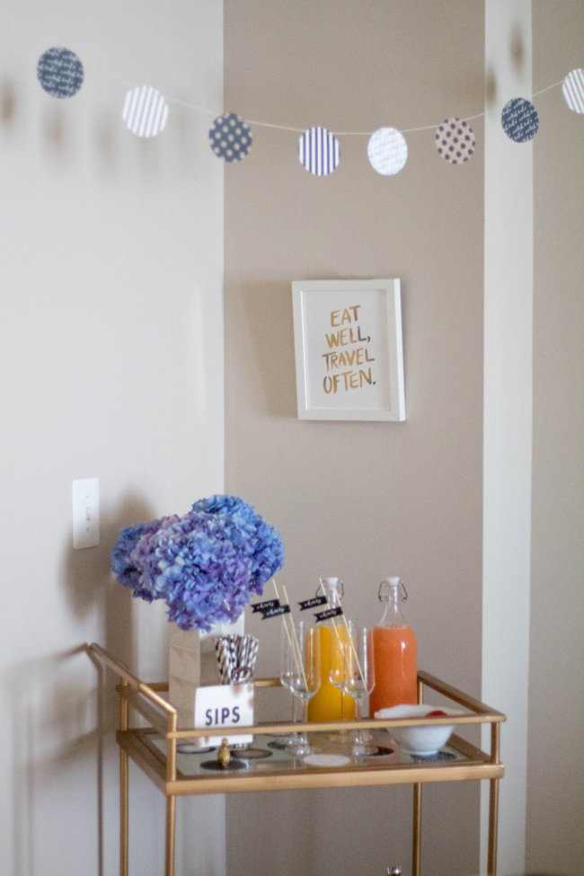 spring bar cart, minted party supplies