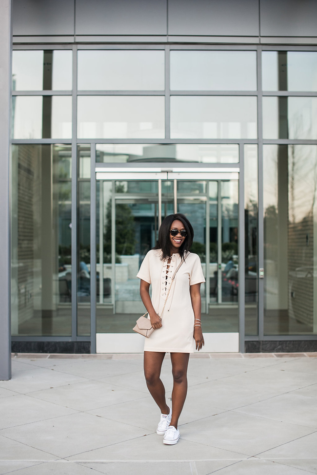 how to wear lace up dress, english factory