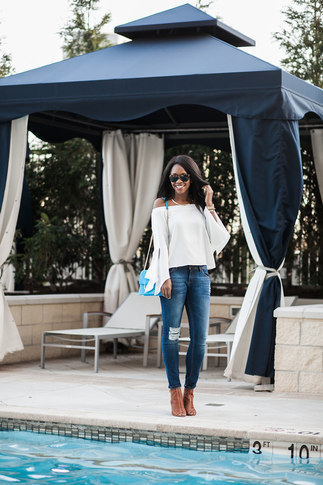 nouvelle tysons corner, dc fashion blog, pool party outfit