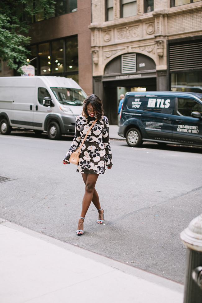 D.C. blogger Alicia Tenise styles the Suno Floral Dress from Rent the Runway
