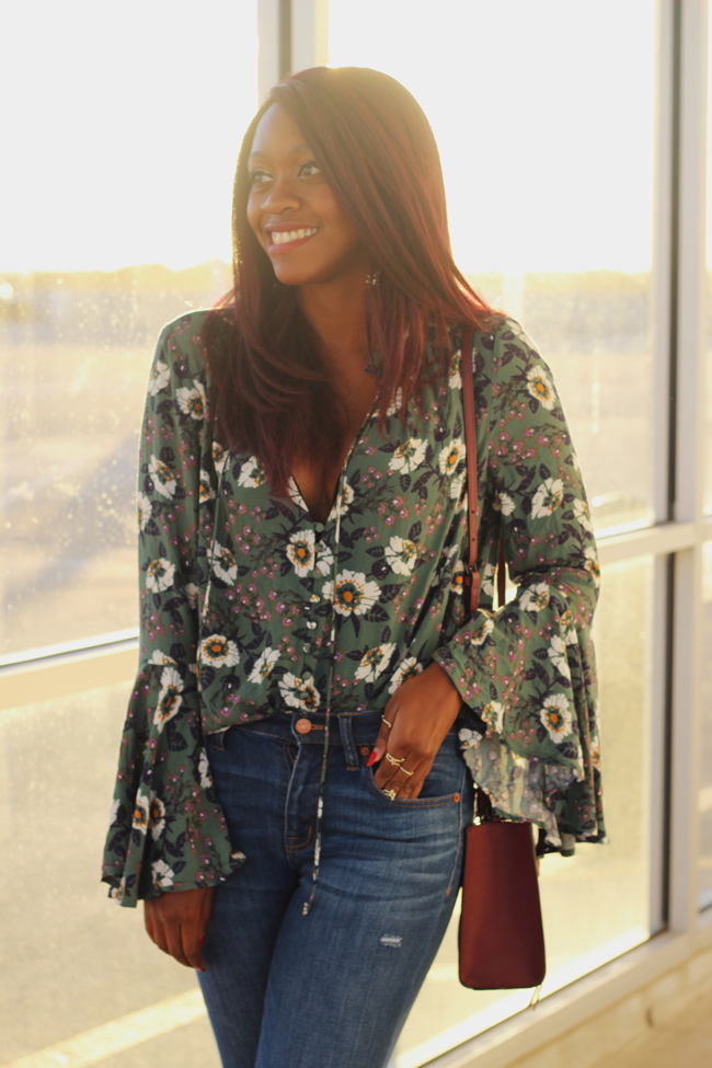 D.C. blogger Alicia Tenise styles the Free People Magic Mystery Tunic and Madewell High Rise Skinny Denim