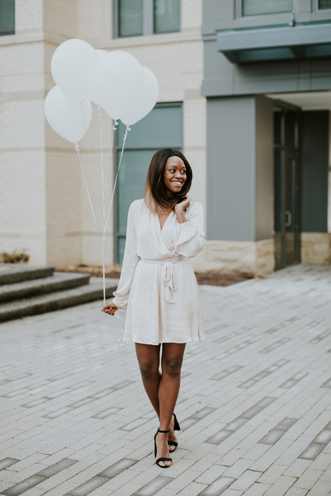 D.C. blogger Alicia Tenise styles the Bardot Miranda Long Sleeve Dress from South Moon Under