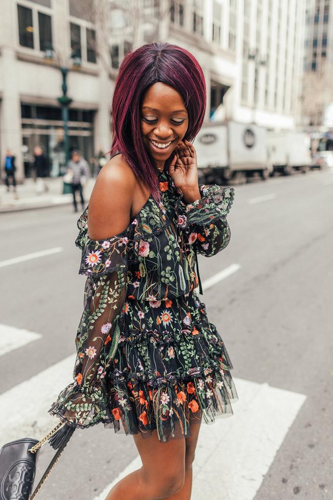 Alexis Black Floral Adeline Dress - Floral Dress for Spring - @aliciatenise