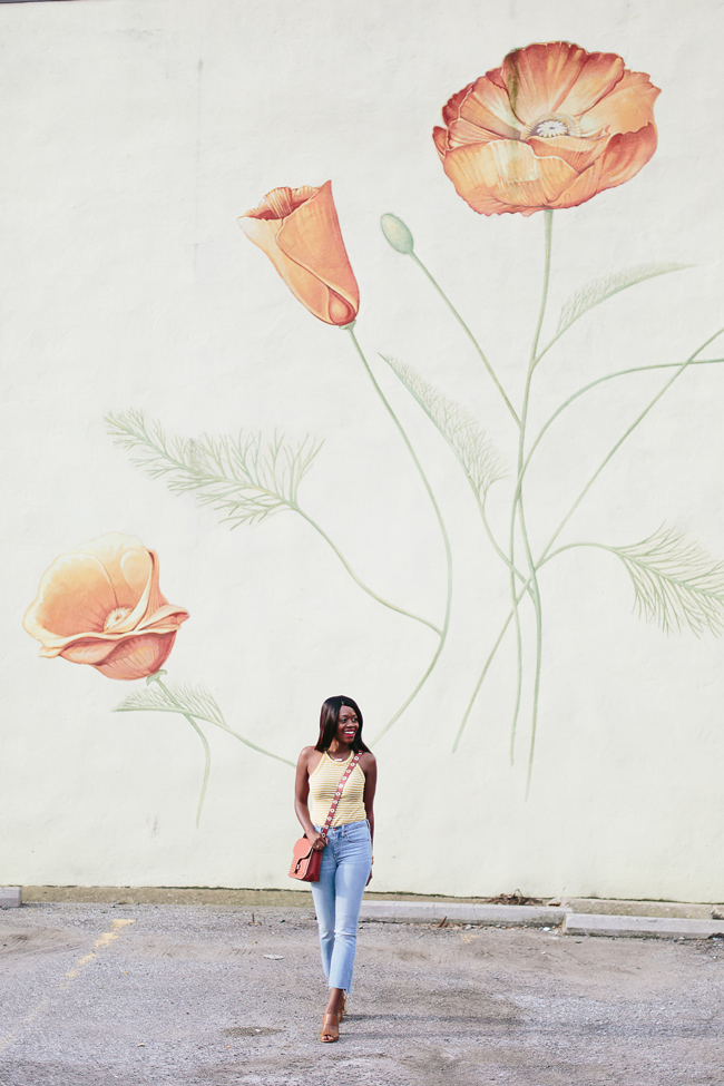 Philadelphia Fashion Blogger Alicia Tenise styles the Madewell Timeoff Tank and Cali Demi Boot Denim