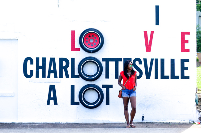 I Love Charlottesville A Lot Sign
