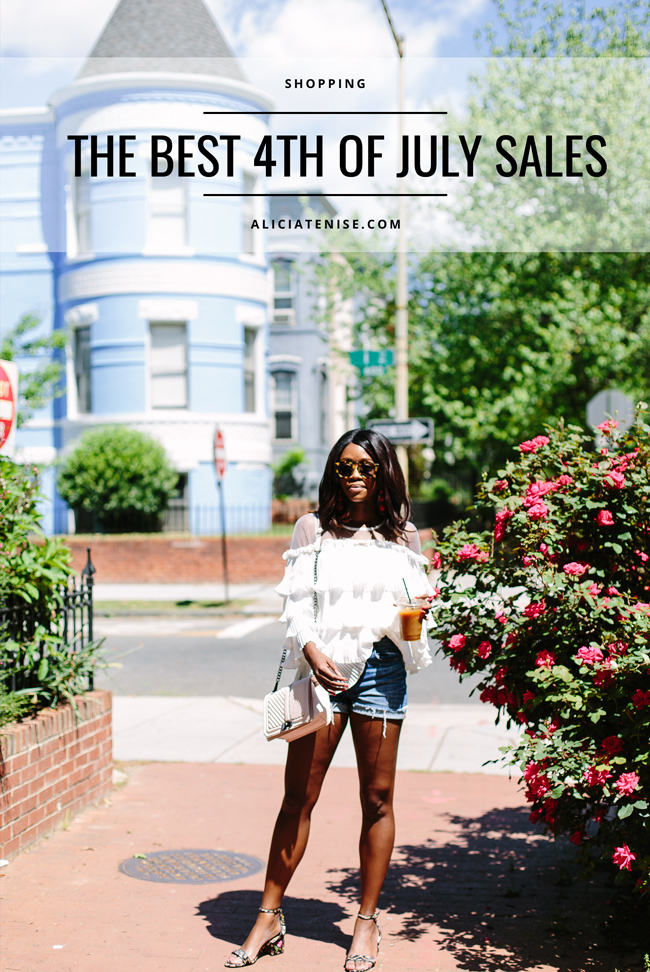 Blogger Alicia Tenise rounds up the best 4th of July Sales of 2017