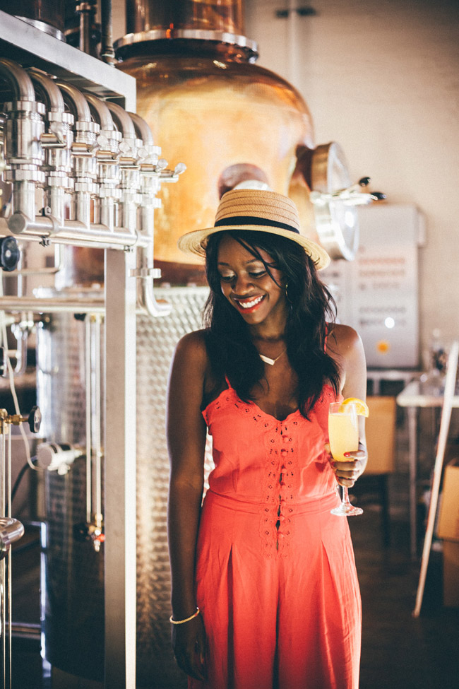 Travel Blogger Alicia Tenise at Lula Distillery in New Orleans