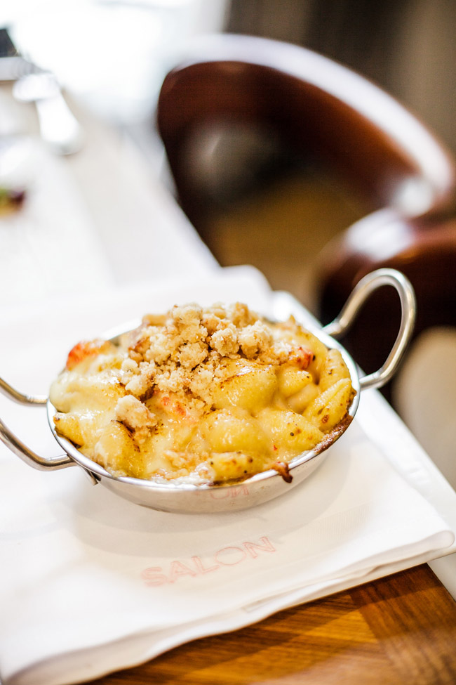 Crawfish Mac and Cheese at Sucre Restaurant New Orleans