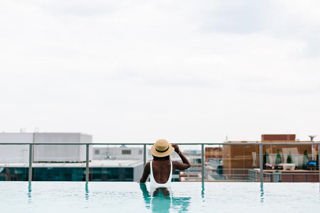 Travel Blogger Infinity Pool
