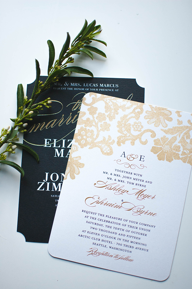 Sleek chic with wedding paper divas alicia tenise sleek chic with wedding paper divas junglespirit Choice Image