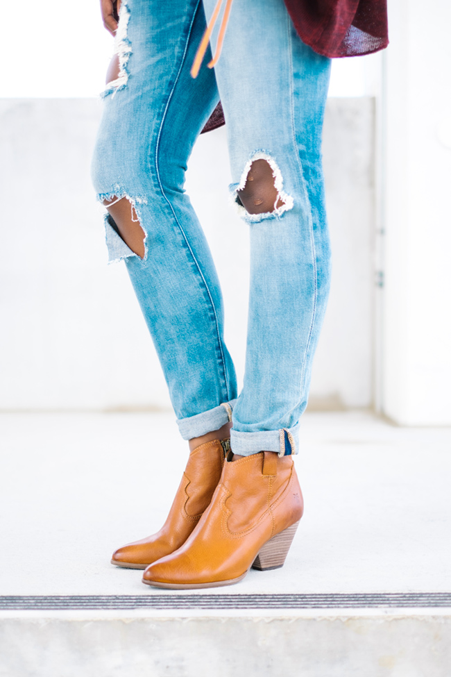frye reina boot, blank destroyed denim, boyfriend jeans, dc fashion blog