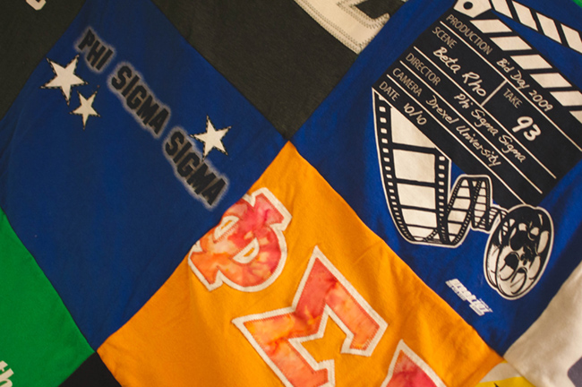 project repat, t-shirt quilt, what to do with old t-shirts