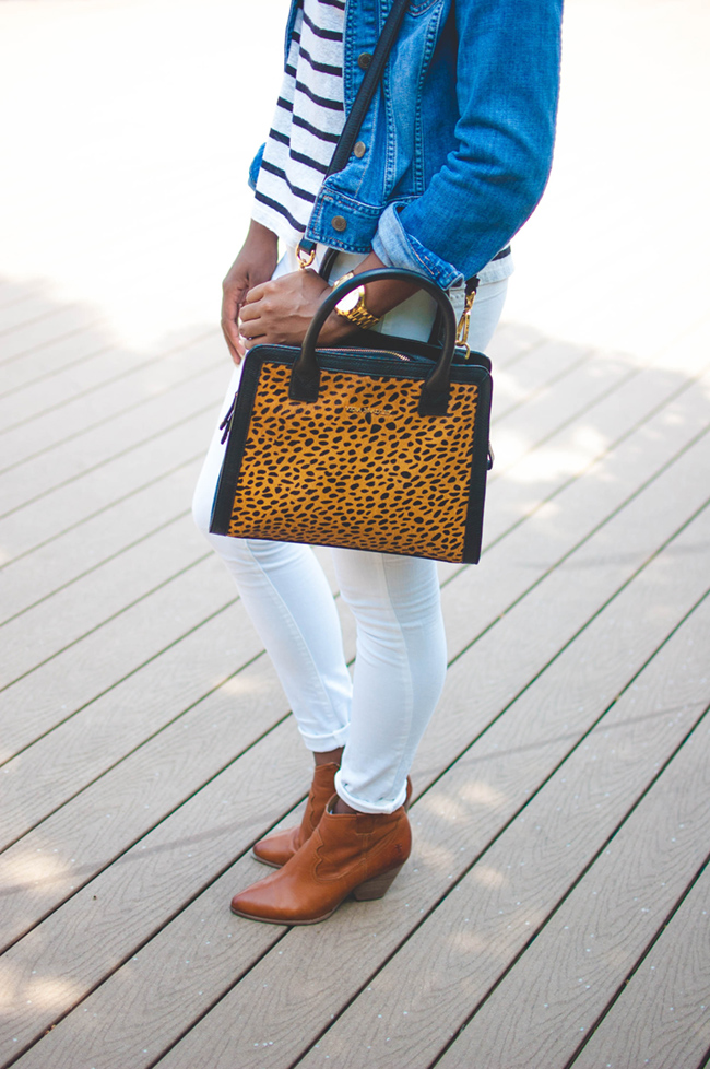 white jeans for fall, white after labor day, casual fall ensemble, casual date look, dc blogger, arlington fashion blog, vera bradley calf hair bag