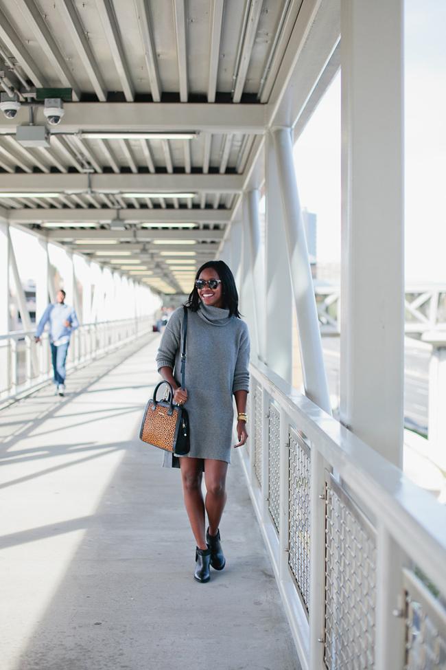Lafayette 148 New York, turtleneck sweater dress, vera bradley natalie satchel, dc fashion blog