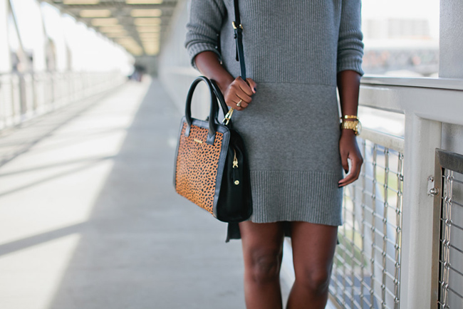 Lafayette 148 New York, sweater dress, vera bradley natalie satchel