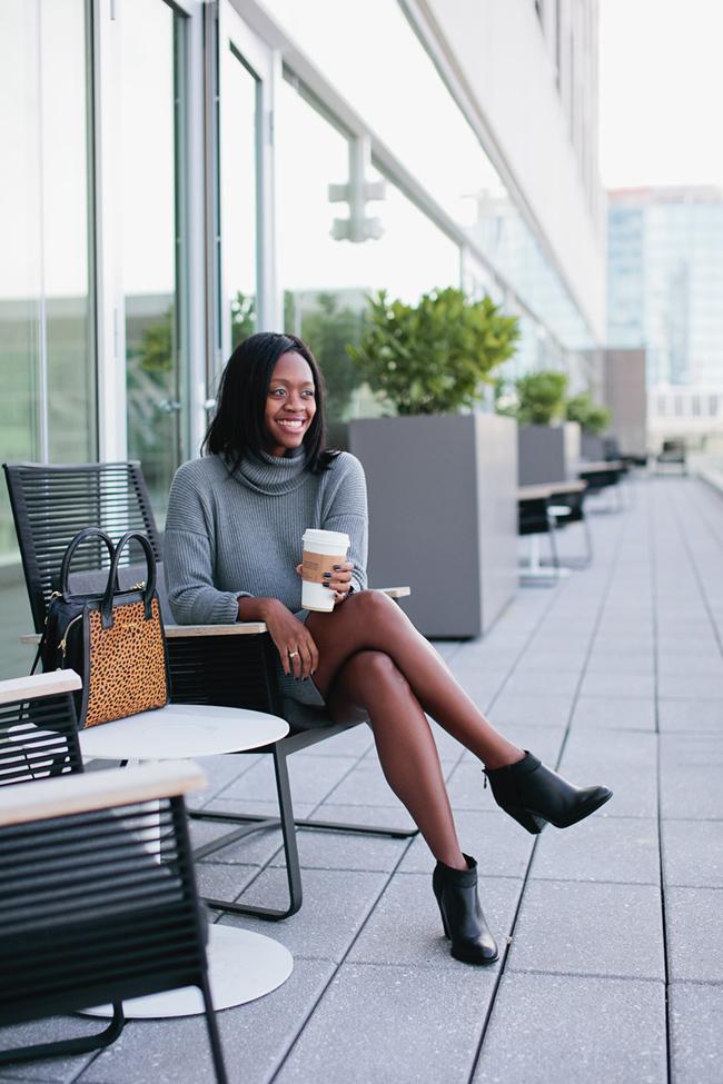 Lafayette 148 New York, luxury rebel ankle booties, turtleneck sweater dress, dc blogger, virginia fashion blog
