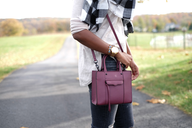 rebecca minkoff mini mab tote, margaret elizabeth jewelry, michael kors runway watch, dc blogger