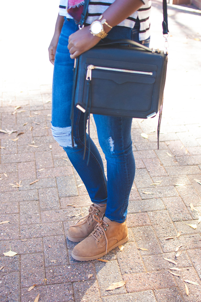 ugg classic slim, ugg bethany, dl1961 destroyed denim, rebecca minkoff dylan - The Weekend Uniform: UGG Bethany by DC fashion blogger Alicia Tenise
