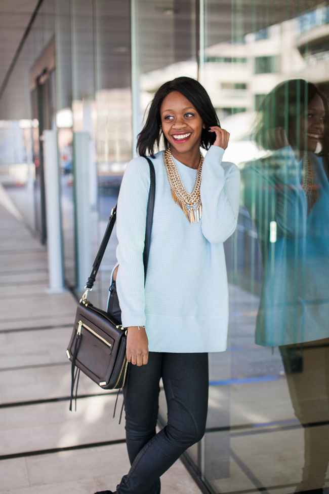 lou and grey tysons corner, baublebar courtney bib, lou and grey cashmere sweater, mac rebel, dc fashion blogger