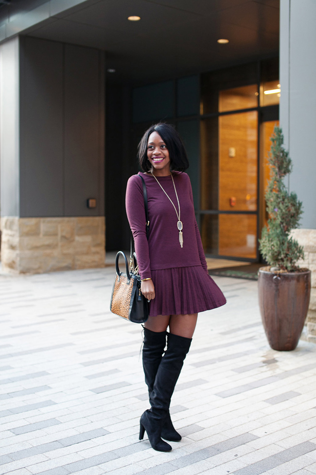 loft pleated flippy dress, steve madden gorgeous, vera bradley natalie, kendra scott rayne, dc blogger