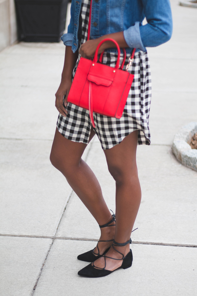 madewell courier shirtdress, gingham dress, stuart weitzman gilligan, rebecca minkoff mini mab tote, dc blogger, spring outfit ideas, transition outfit