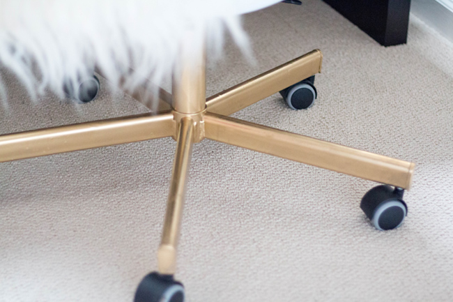 ikea spray paint hack - DIY IKEA Hack | Gold Office Chair by popular DC blogger Alicia Tenise