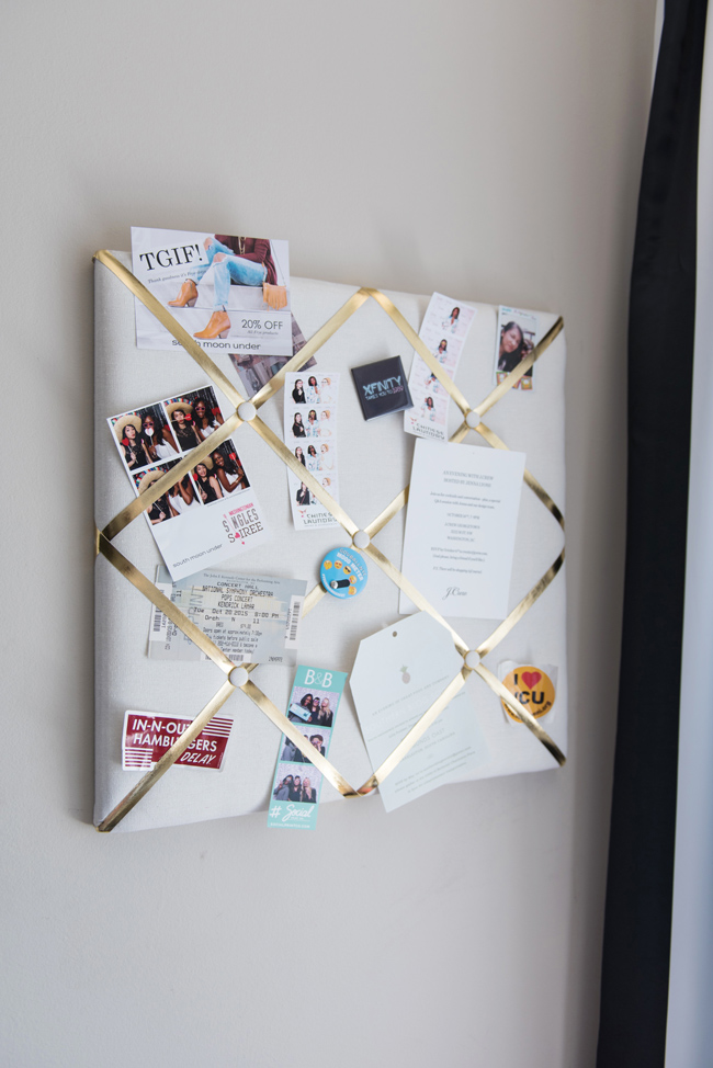 how to decorate a bulletin board, target ribbon bulletin board