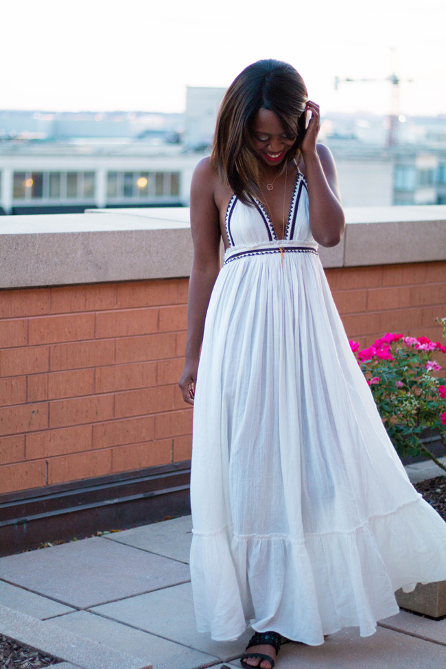 northern virginia style blog, what to wear to a rooftop party, woc blogger - Uncommongoods Jewelry by DC fashion blogger Alicia Tenise