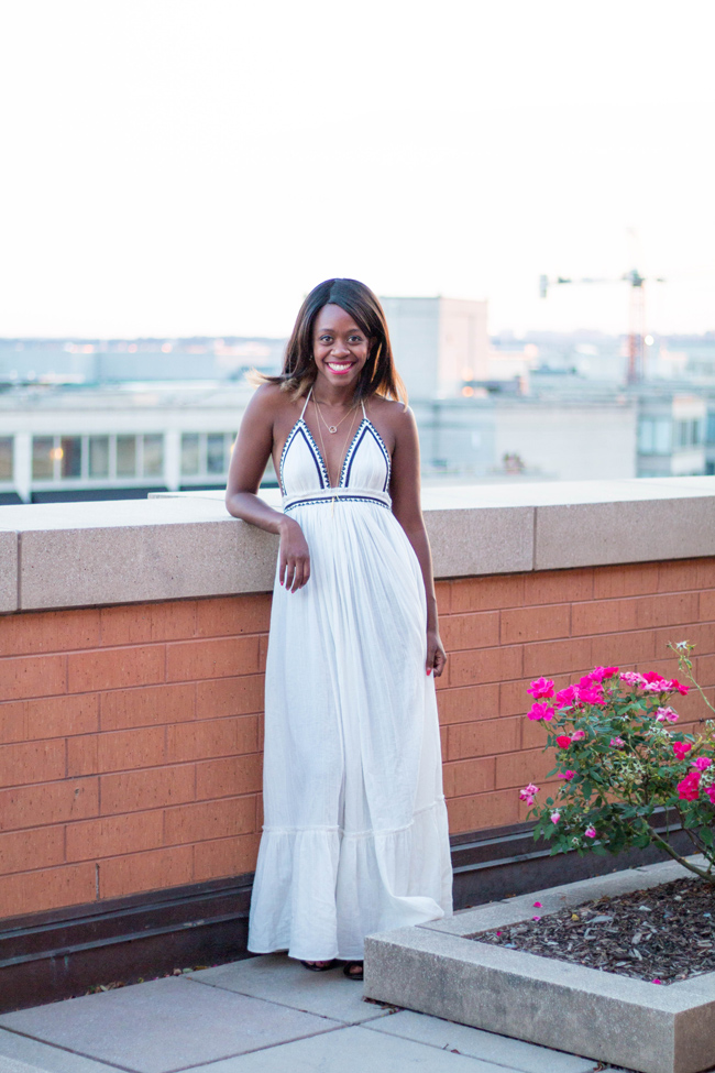 free people love shakin' maxi, dc blogger - Uncommongoods Jewelry by DC fashion blogger Alicia Tenise