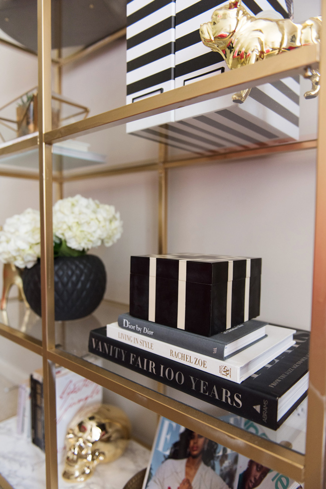 mintwood home, styling IKEA shelves, dc apartment tour - Bedroom Tour: Reading Nook With an Awesome IKEA Bookcase Hack by popular DC blogger Alice Tenise