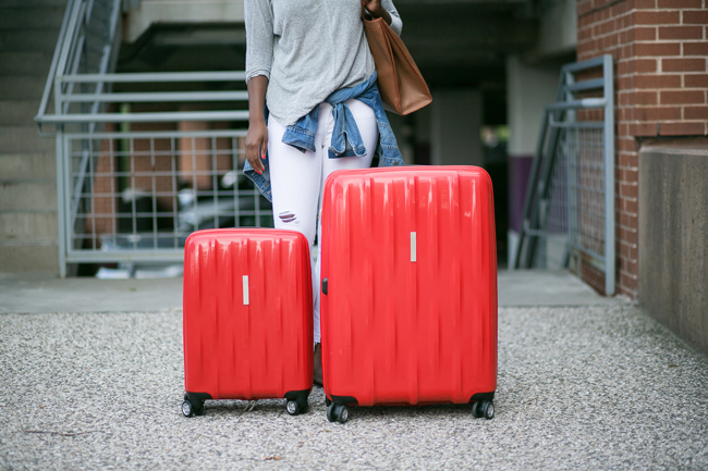 affordable luggage set, spinner suitcases