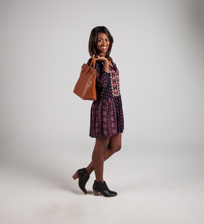 D.C. Blogger Alicia Tenise styles the Anthropologie Kaleidoscope Shirtdress from Mosaic District