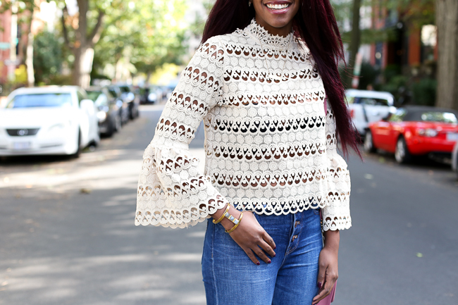 How to wear a bell sleeve top