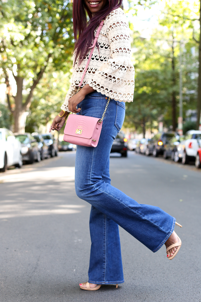 Madewell Flea Market Flare Jeans: Button-Front Edition, Steve Madden Stecy Sandal