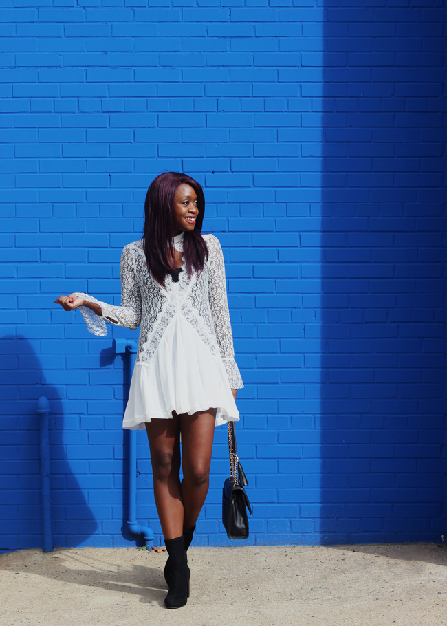 88c9ec0d D.C. blogger Alicia Tenise styles the Free People New Tell Tale Lace Tunic  Dress and Vince
