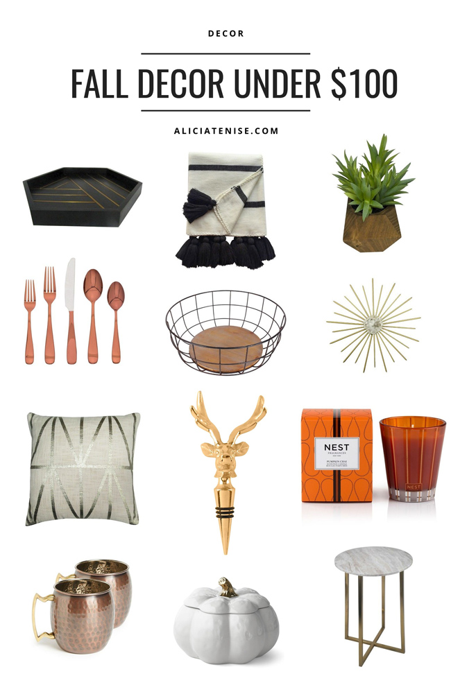 D.C. blogger Alicia Tenise shares her favorite fall home decor finds under $100