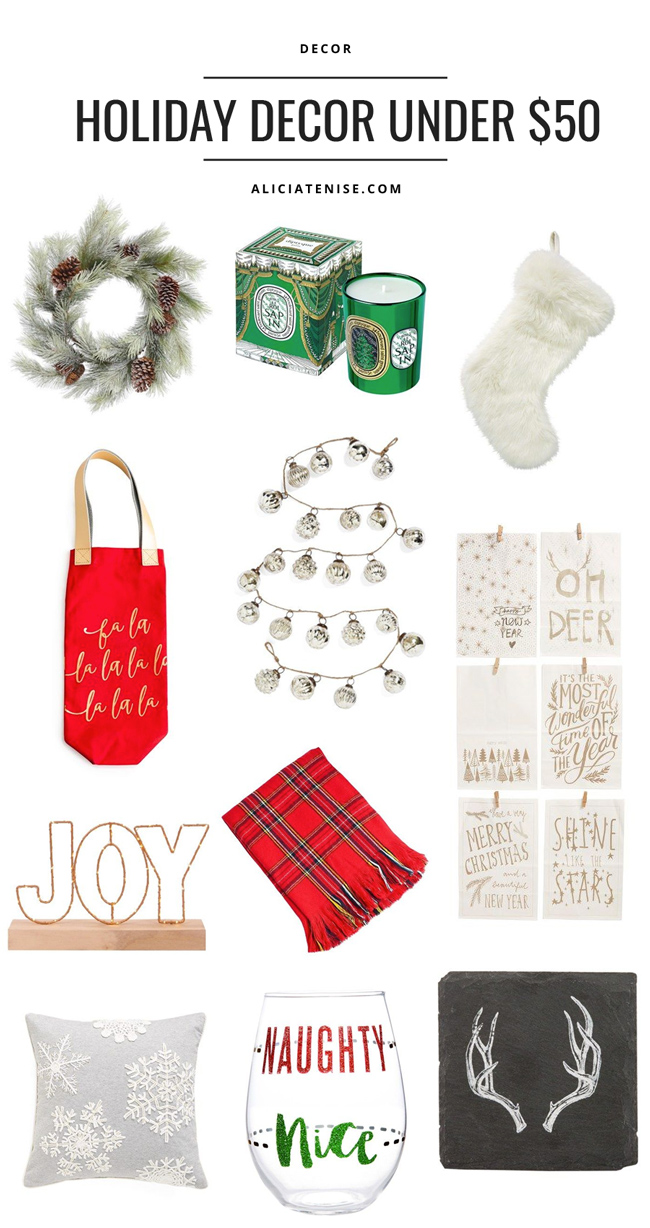 D.C. blogger Alicia Tenise shares her holiday decor picks for under $50
