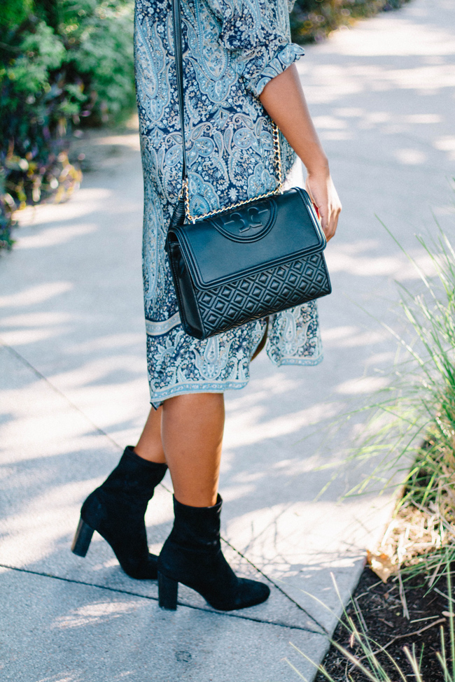 Tory Burch Fleming Bag, Vince Camuto Sendra Bootie
