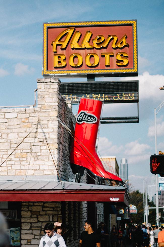 Allen's Boots in Austin Texas