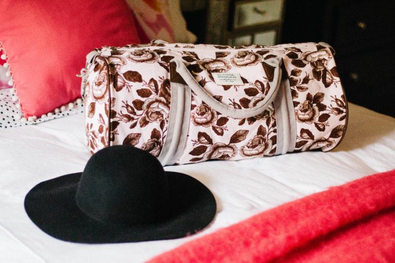 sloane ranger duffel bag, j.crew wool floppy hat