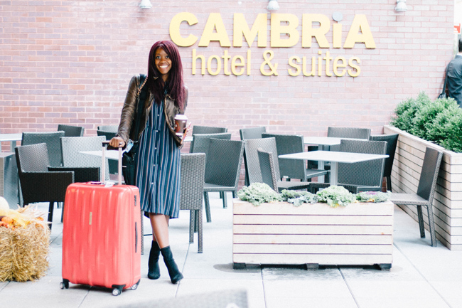 D.C. blogger Alicia Tenise reviews Cambria hotel & suites NYC - Chelsea