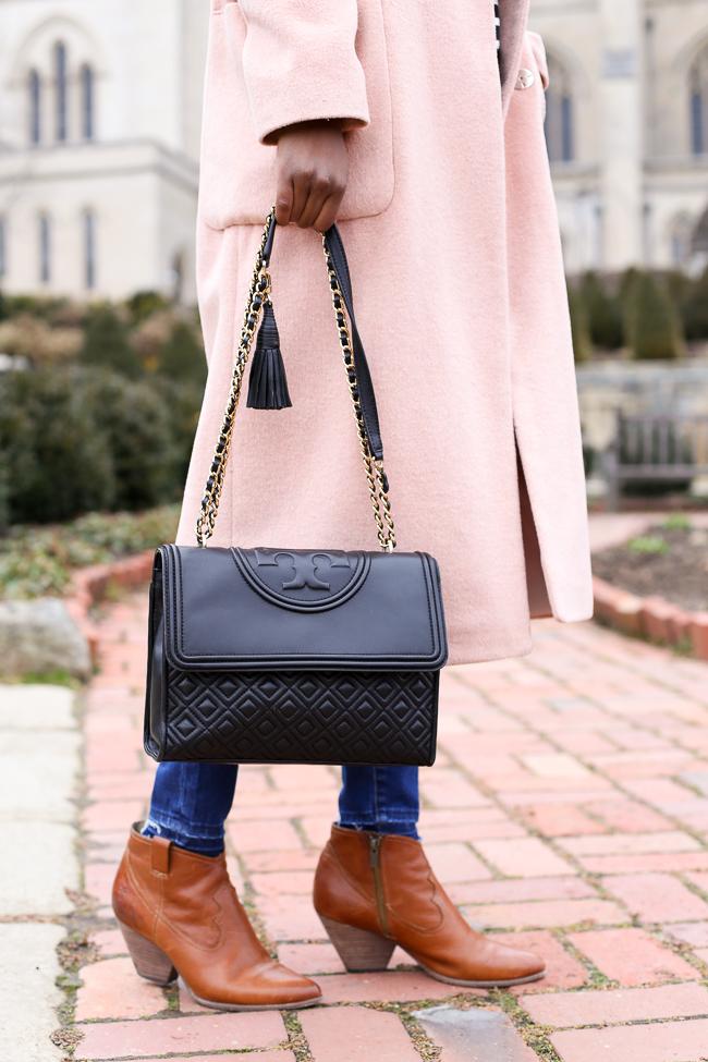 Frye Reina Booties - Blush Coat: Back to the Ballerina Days by popular Washington DC style blogger Alicia Tenise