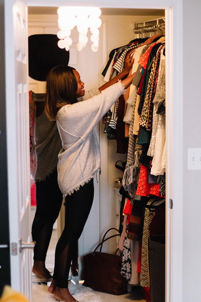 Blogger Closet Organization