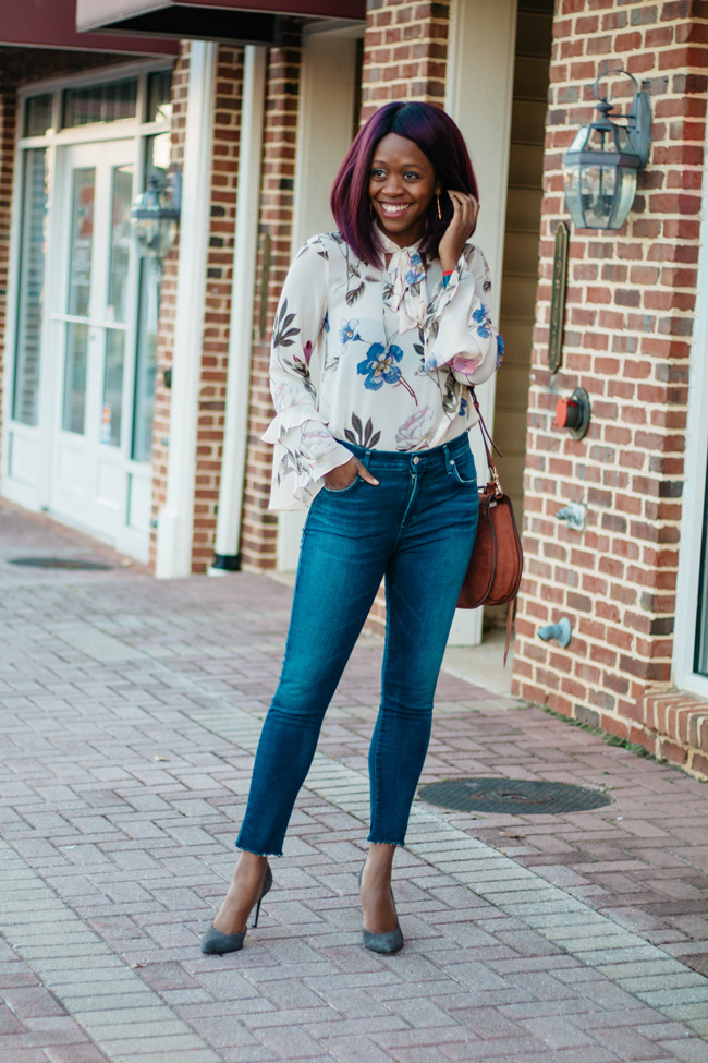 A Gold E Sophie Crop In Claremont Skinny Jeans