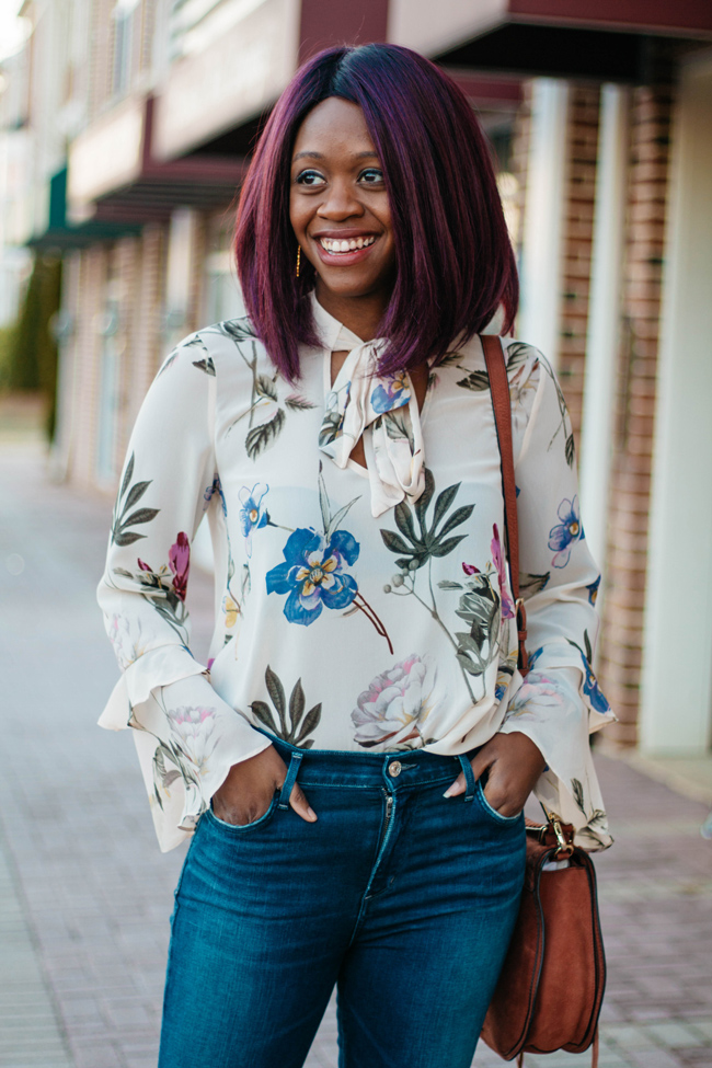 Top D.C. Fashion Blogger, Floral Blouse for Spring