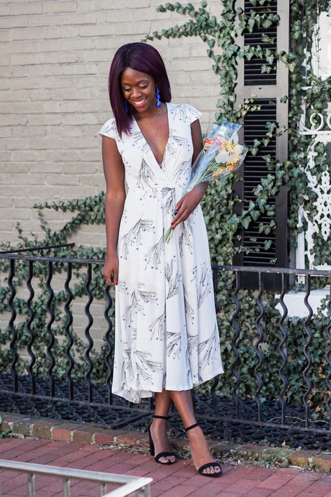 D.C. blogger Alicia Tenise styles the Free People Retro Midi Dress